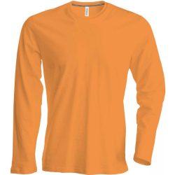 Kariban hosszúujjú karcsusított póló, narancs