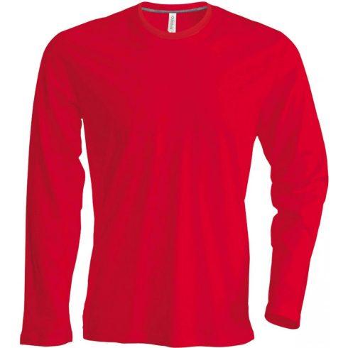 Kariban hosszúujjú karcsusított póló, piros