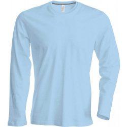 Kariban hosszúujjú karcsusított póló, égkék