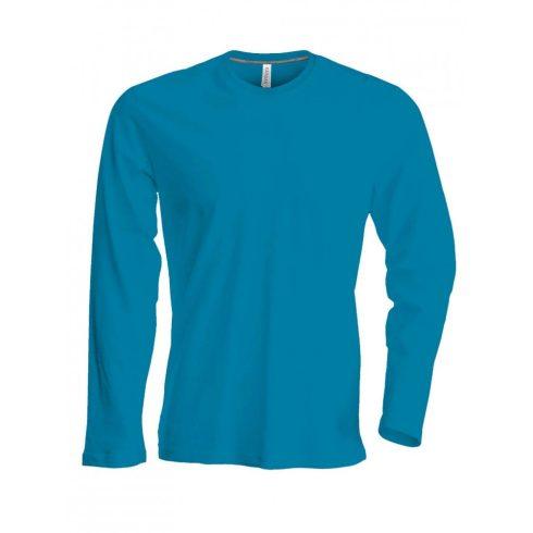Kariban hosszúujjú karcsusított póló, tropical kék