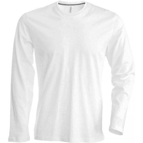 Kariban hosszúujjú karcsusított póló, fehér