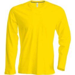 Kariban hosszúujjú karcsusított póló, sárga