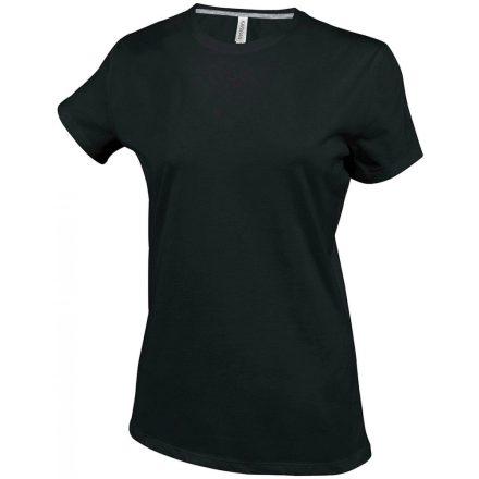 Kariban Női környakas póló, fekete
