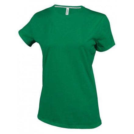 Kariban Női környakas póló, fűzöld