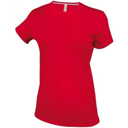 Kariban Női környakas póló, piros