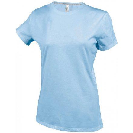 Kariban Női környakas póló, égkék
