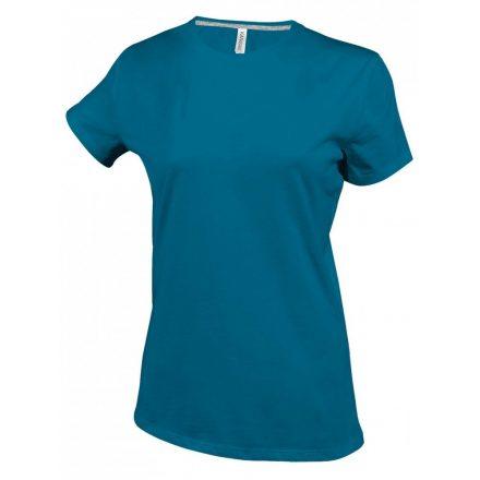 Kariban Női környakas póló, tropical kék