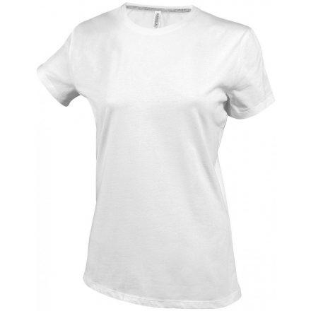 Kariban Női környakas póló, fehér