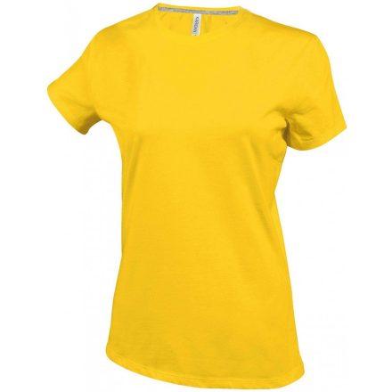 Kariban Női környakas póló, sárga