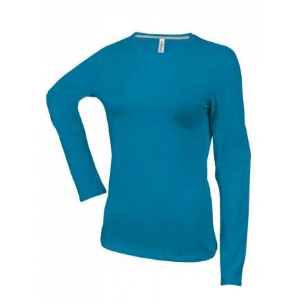 Kariban Női h.ujjú póló, Tropical Blue