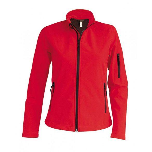 Kariban női SOFTSHELL dzseki, piros