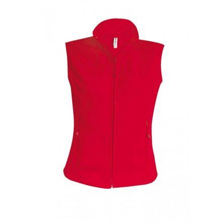 Kariban női mikropolár mellény, piros