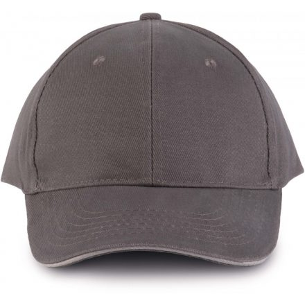 K-UP KP011 Orlando baseballsapka, 6 paneles, Slate Grey/Light Grey