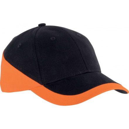 K-UP 6 paneles Racing baseballsapka, fekete/narancs
