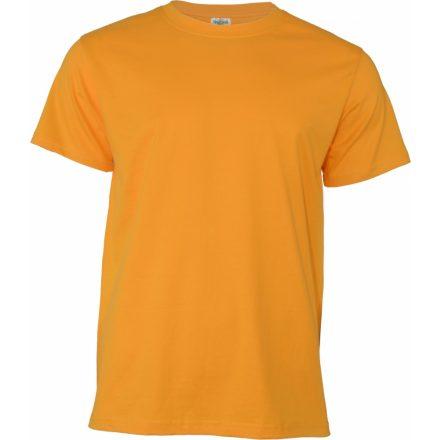 Keya MC180 unisex pamut póló, aranysárga
