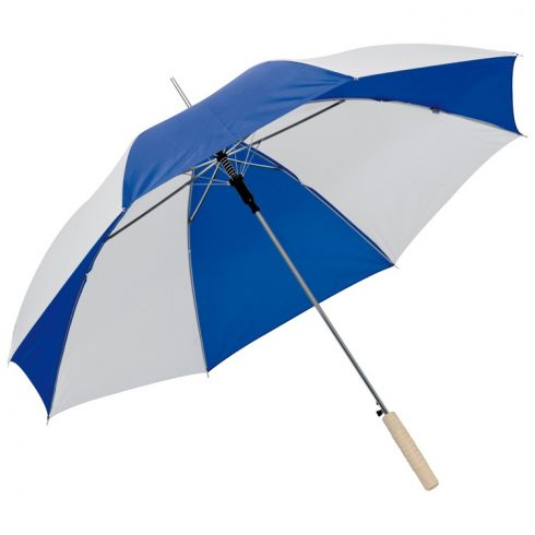 Kétszínü automata esernyő, kék/fehér