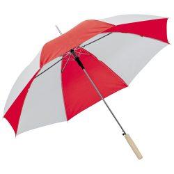 Kétszínü automata esernyő, piros/fehér