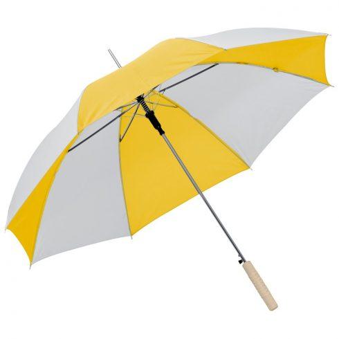 Kétszínü automata esernyő, sárga/fehér
