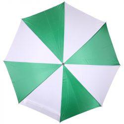 Kétszínü automata esernyő, zöld/fehér