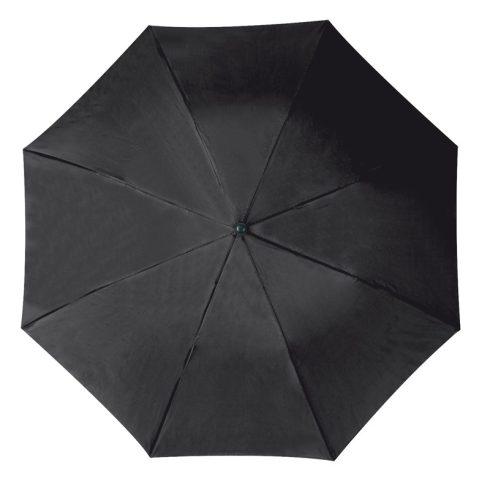 Összecsukható, teleszkópos esernyő, fekete