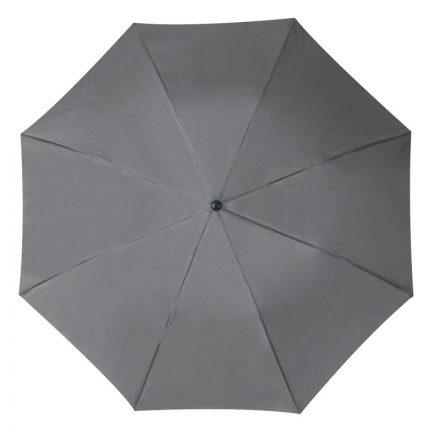 Összecsukható, teleszkópos esernyő, szürke