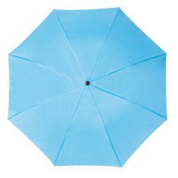 Összecsukható, teleszkópos esernyő, világoskék