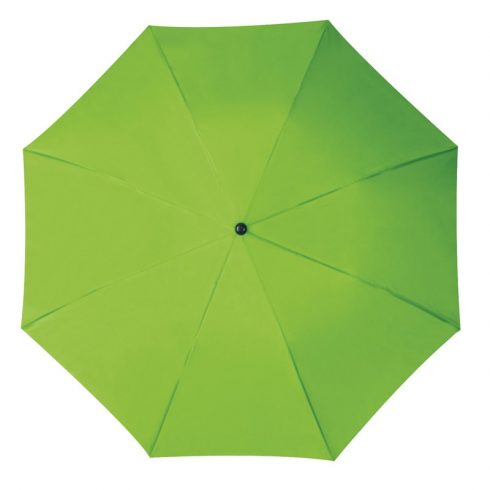 Összecsukható, teleszkópos esernyő, almazöld