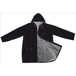 Kétszínű kifordítható esőkabát, fekete/silver