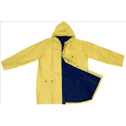 Kétszínű kifordítható esőkabát, kék/sárga