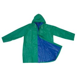 Kétszínű kifordítható esőkabát, kék/zöld