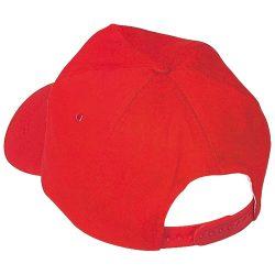 Vászon baseballsapka, piros