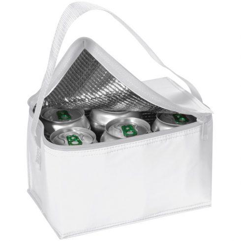 Mini hűtőtáska vállpánttal, fehér