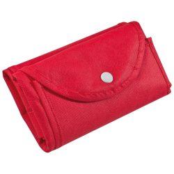 Összehajtható nem szőtt bevásárló táska, piros