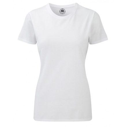 Karcsúsított fazonú, Russell Női póló, fehér