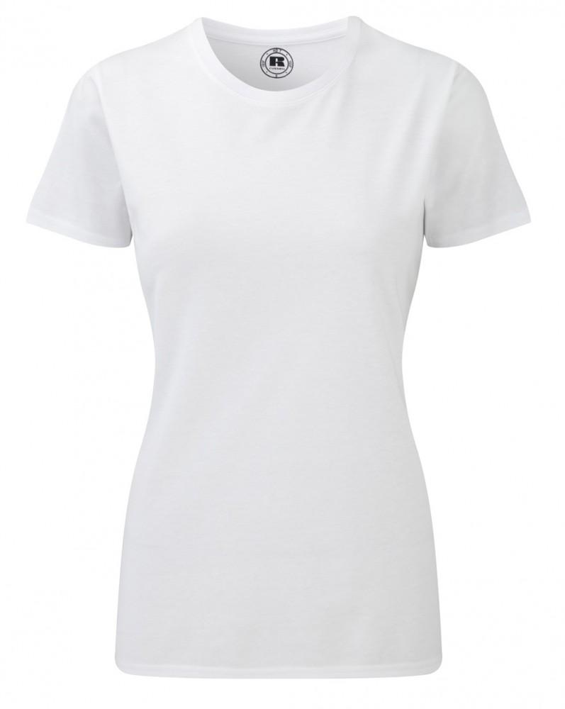 9ad6968f42 Karcsúsított fazonú, Russell Női póló, fehér - poloplaza