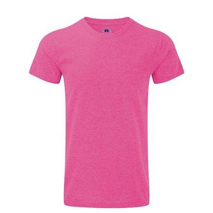Karcsúsított fazonú, Russell  férfi póló, Pink Marl
