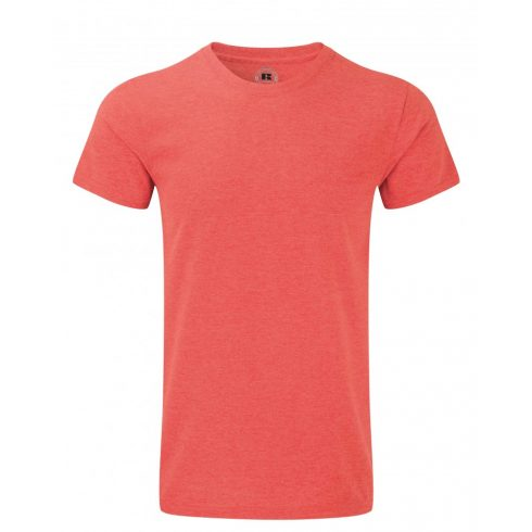 Karcsúsított fazonú, Russell  férfi póló, Red Marl