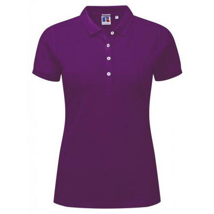 Russell Női galléros stretch póló, Ultra Purple