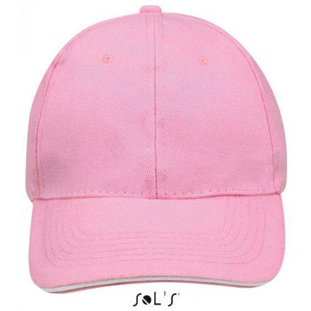Sol's Buffaló baseballsapka, 6 paneles, pink/fehér