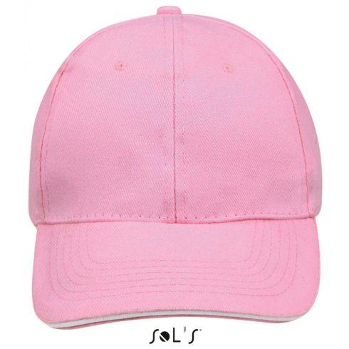 Sol's Buffaló baseballsapka, 6 paneles, U, pink/fehér