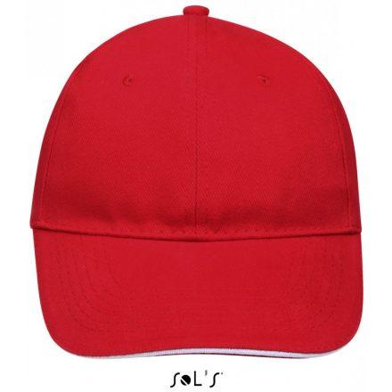 Sol's Buffaló baseballsapka, 6 paneles, piros/fehér