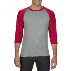 Anvil AN6755 Heather Grey/Heather Red
