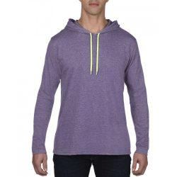 Anvil AN987 Heather Purple/Neon Yellow