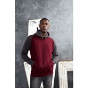Just Hoods AWJH009 Burgundy/Charcoal