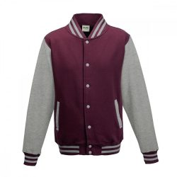 Just Hoods AWJH043 Burgundy/Heather Grey