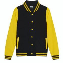 Just Hoods AWJH043F Jet Black/Sun Yellow
