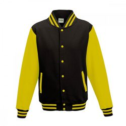 Just Hoods AWJH043 Jet Black/Sun Yellow