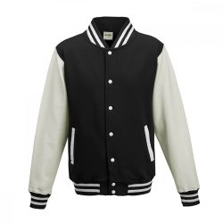 Just Hoods AWJH043 Jet Black/White