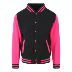 Just Hoods AWJH043 Jet Black/Hot Pink