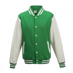 Just Hoods AWJH043 Kelly Green/Arctic White